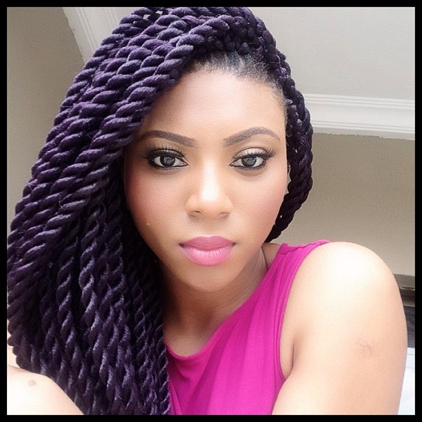 Jumbo Braids Hairstyles Coker rocking jumbo twists