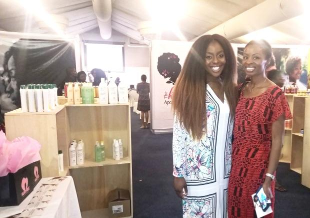 Heat Free Hair Founder, Ngozi Opara and Lamide Akintobi of EbonyLife TV